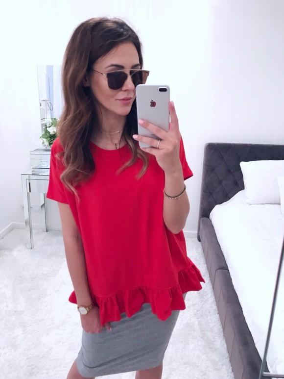 Bluzka Tiffany czerwień