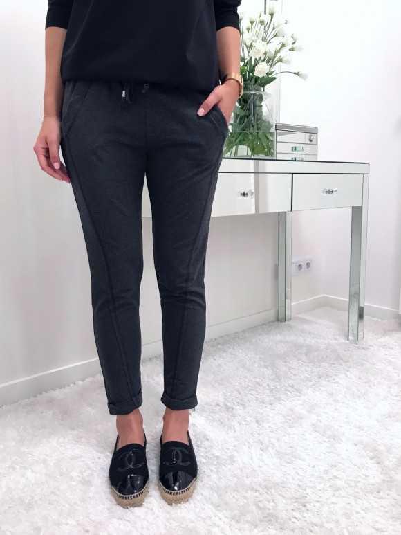 Spodnie Remi ciemnoszare