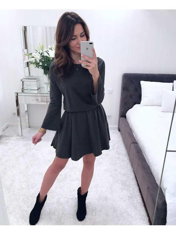 Sukienka Dzwonek khaki
