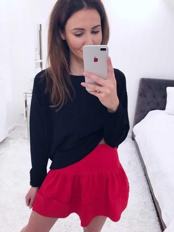 Spódniczka Malija czerwona