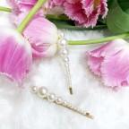 PEARL V - wsuwki z perłami 2szt.
