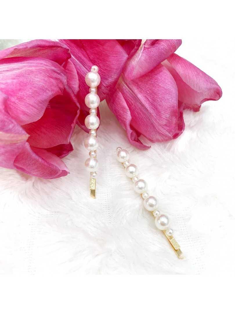 PEARL IV - wsuwki z perłami 2szt.