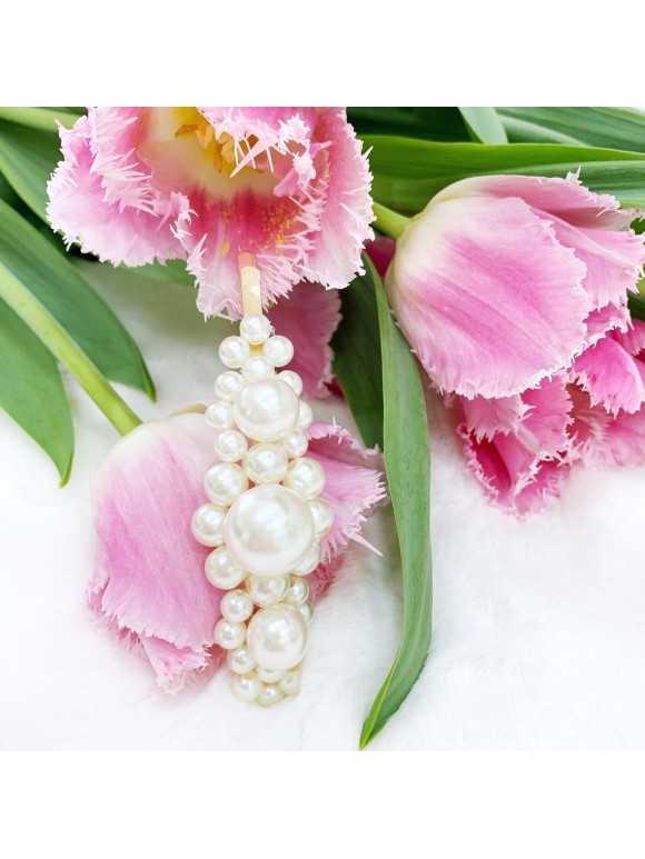 PEARL X - wsuwka z perłami 2szt.