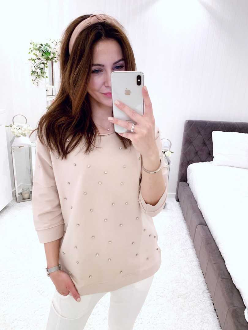 Bluza Chiara pudrowa