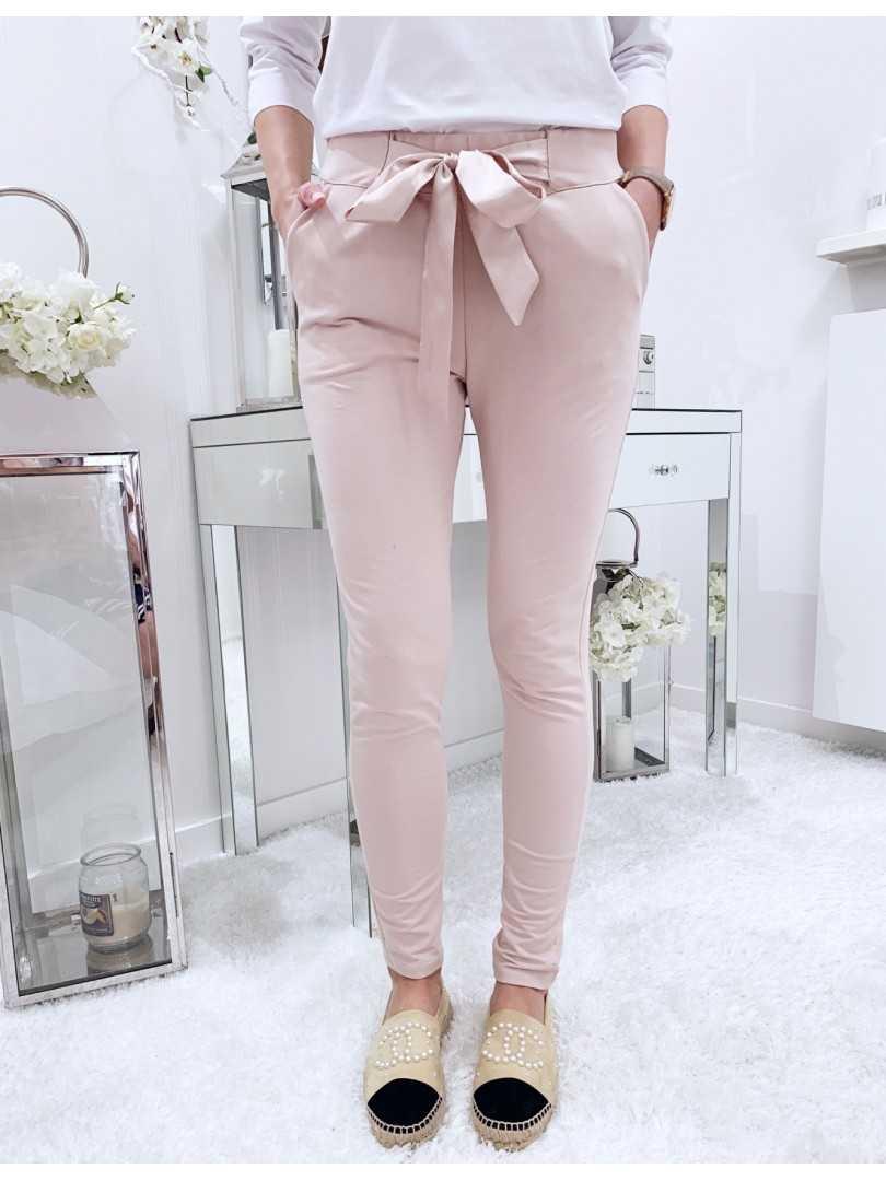 Spodnie Alex pudrowe