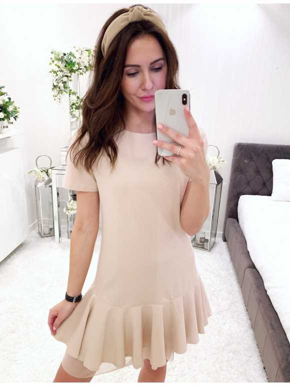 Sukienka Ashley pudrowa