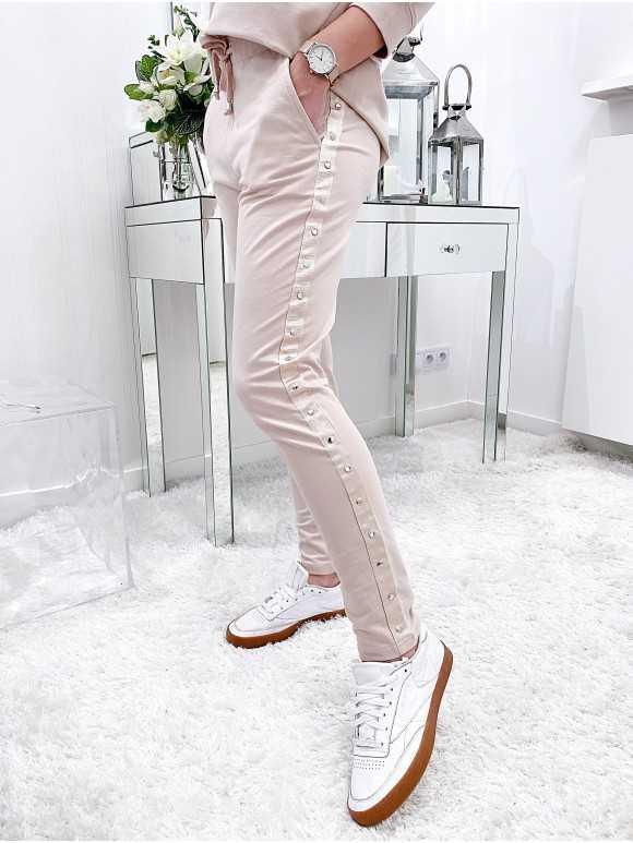 Spodnie Selena pudrowe