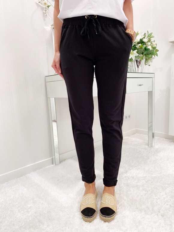 Spodnie Pat czarne