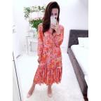 Sukienka Kenzas MIDI długi rękaw